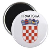 "Croatia Arms with Name 2.25"" Magnet (100 pack)"