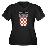 Croatia Arms with Name Women's Plus Size V-Neck Da
