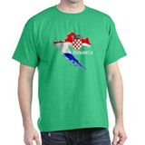 Croatia Flag Map T-Shirt