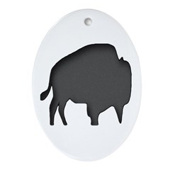 Buffalo Oval Ornament