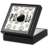 Dread Text Puli Dog Keepsake Box
