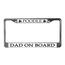 Black Poodle Dad License Plate Frame
