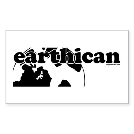 Earthican Rectangle Sticker