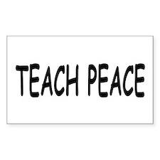 TEACH PEACE Rectangle Decal