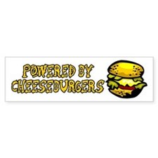 Powered By Cheeseburgers Bumper Sticker