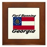 Fort Benning Georgia Framed Tile