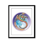 Magic Moon Dragon Framed Panel Print