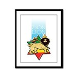 Zion Lion Framed Panel Print