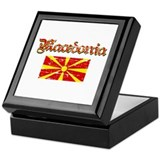 Macedonian Flag Keepsake Box