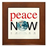 Peace Now Framed Tile