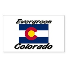 Evergreen Colorado Rectangle Decal