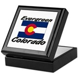 Evergreen Colorado Keepsake Box