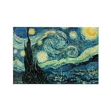 Van Gogh Starry Night Rectangle Magnet (10 pack)