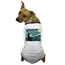 Van Gogh Starry Night Dog T-Shirt