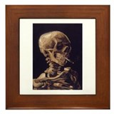 Van Gogh Skull with a Burning Cigarette Framed Til
