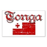 Tongan Flag Rectangle Decal
