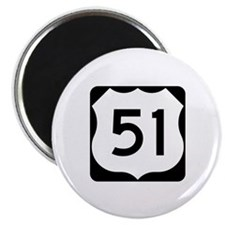 "US Highway 51 2.25"" Magnet (10 pack)"