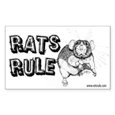 Rats Rule Dumbo Rectangle Decal