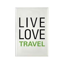 Live Love Travel Rectangle Magnet (10 pack)