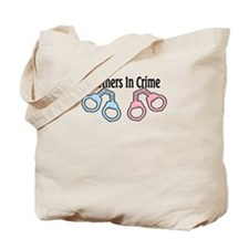 Partners in Crime Twins 1 G 1 B Tote Bag