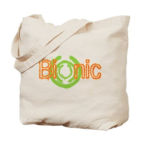Bionic Television Tag Line Tote Bag