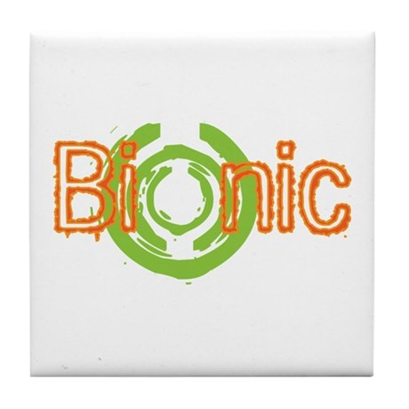 Bionic Television Tag Line Tile Coaster