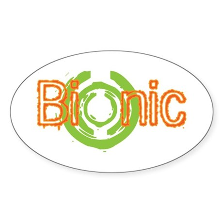 Bionic Television Tag Line Oval Sticker