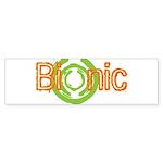 Bionic Television Tag Line Bumper Sticker