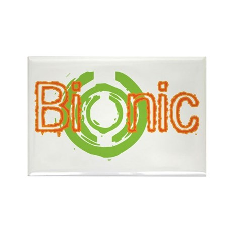 Bionic Television Tag Line Rectangle Magnet