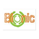 Bionic Television Tag Line Mini Poster Print