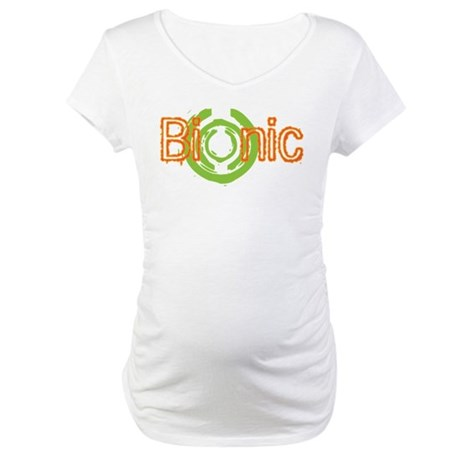 Bionic Television Tag Line Maternity T-Shirt