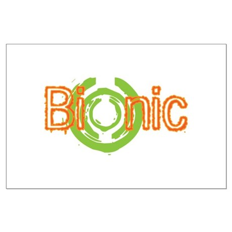 Bionic Television Tag Line Large Poster