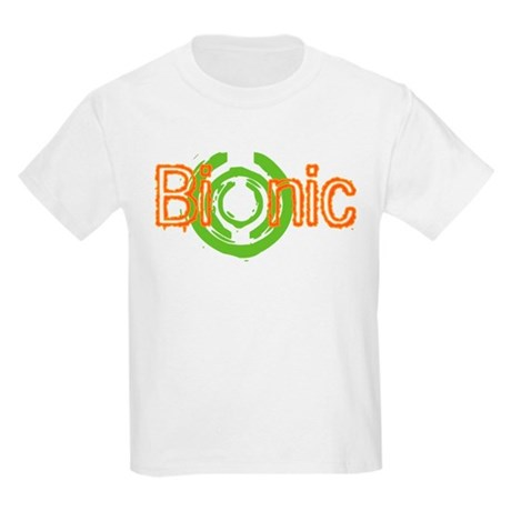 Bionic Television Tag Line Kids Light T-Shirt
