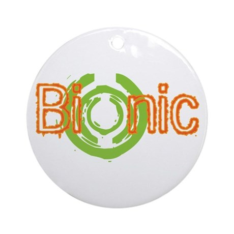 Bionic Television Tag Line Ornament (Round)