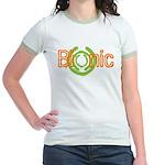 Bionic Television Tag Line Jr. Ringer T-Shirt