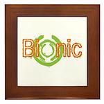 Bionic Television Tag Line Framed Tile