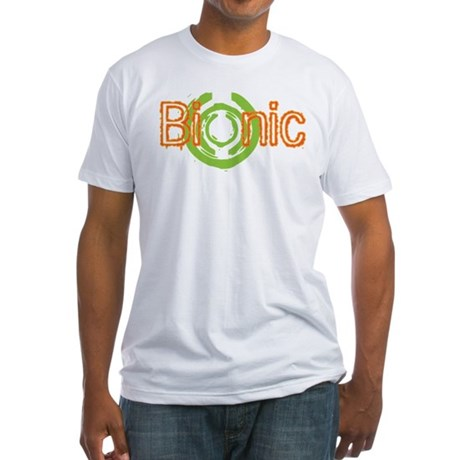 Bionic Television Tag Line Fitted T-Shirt