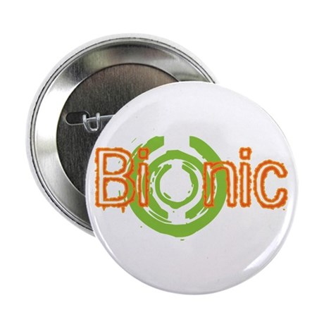 "Bionic Television Tag Line 2.25"" Button (10 pack)"