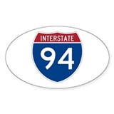 Interstate 94 Oval Decal