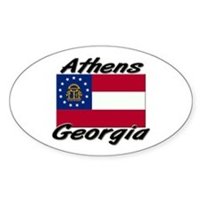 Athens Georgia Oval Decal