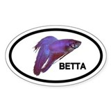 Betta Fish Oval Bumper Stickers