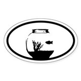 Goldfish Fishbowl Oval Decal