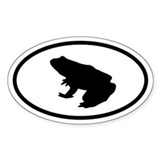 Frog Oval Decal