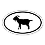 Goat Oval Decal