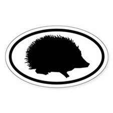 Hedgehog Oval Decal