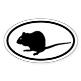 Mouse Oval Decal