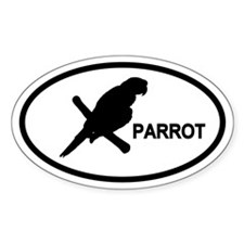 Parrot Oval Decal