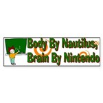 Nautilus Body Nintendo Brain Bumper Sticker