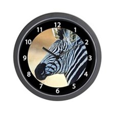 Zebra Portrait Wall Clock