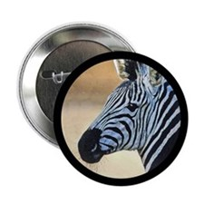 "Zebra Portrait 2.25"" Button (10 pack)"